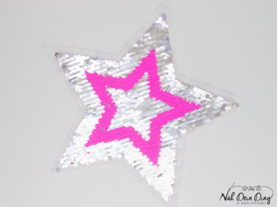 Wendepailetten Stern pink/silber
