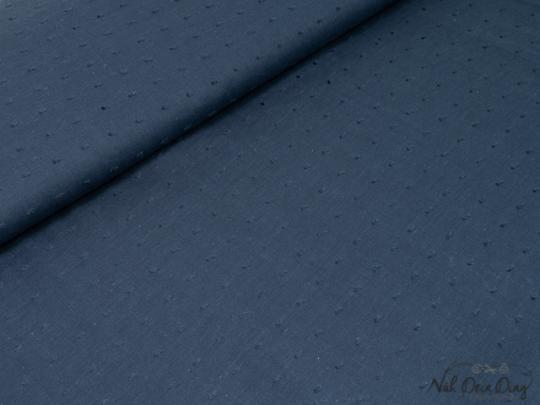 Baumwollbatist marine mit eingewebte n 3-D Punkten