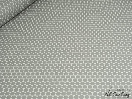 stoffe b nder baumwolle beschichtet sechsecke grau online kaufen. Black Bedroom Furniture Sets. Home Design Ideas