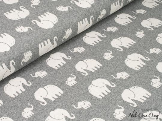Jacquard Elefanten, grau