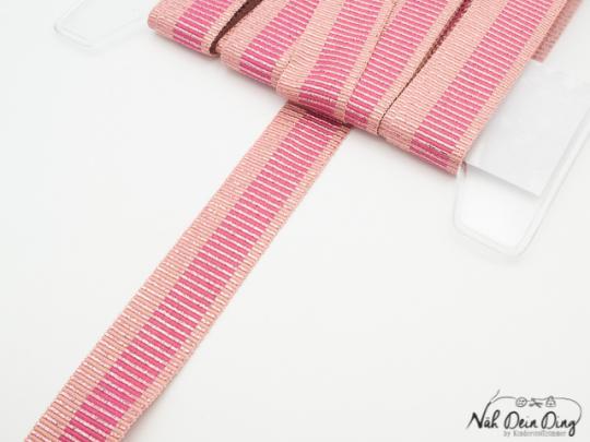 Ripsband rosa/pink mit Glitzer